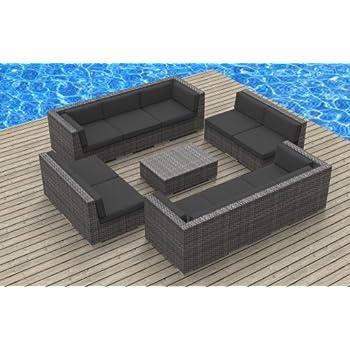 Groovy Urban Furnishing Bermuda 11Pc Modern Outdoor Backyard Machost Co Dining Chair Design Ideas Machostcouk