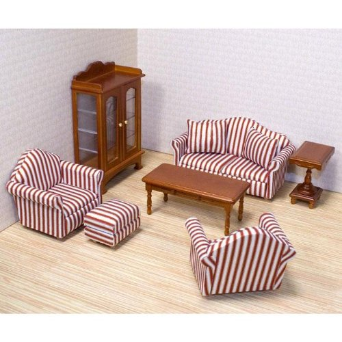 Melissa & Doug Deluxe DollHouse Furniture Living Room Set