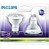 Philips LED Spotlights - Twin Pack (GU10 3.5W) - Warm White