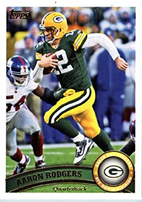 2011 Topps Football Card # 1 Aaron Rodgers - Green Bay Packers - NFL Trading Card in a Protective Case!