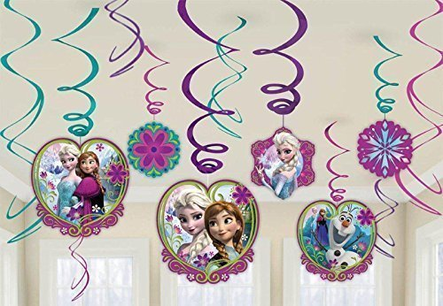 Disney Frozen Swirl Decorations (12) - 1