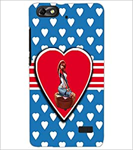 PrintDhaba Love Girl D-1120 Back Case Cover for HUAWEI HONOR 4C (Multi-Coloured)