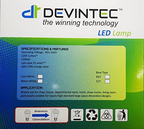 Devintec-12W-LED-Bulb-(Cool-White,-Set-Of-4)