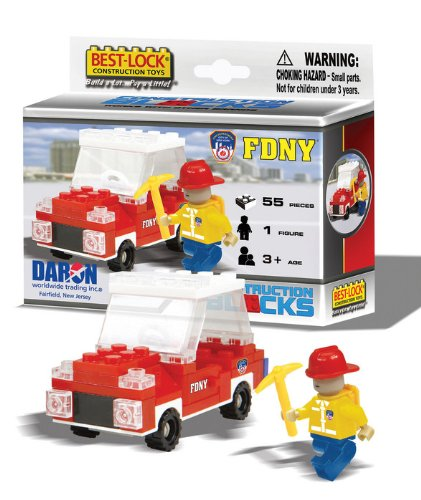 Best Lock BL70053 FDNY 55 Piece Construction Set