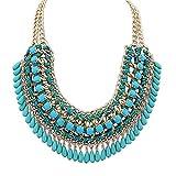 Eyourlife Hot Fashion Retro Jewelry Pendant Knit Chain Choker Chunky Statement Bib Necklace