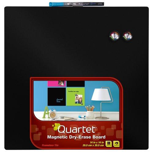 quartet-dry-erase-board-14-x-14-inches-frameless-neon-black-surface-85413-bk