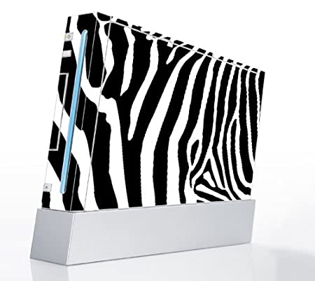Nintendo Wii Console Decal Skin - Zebra Print