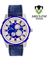 Latest Design Blue Denim Design Leather Belt Watch, Round Multi Color Dial Analog Watch For Men's/Boys Classic...