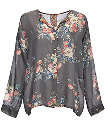 Johnny was collection silk blooming boxy button down for Johnny was silk shirt