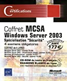 Pack en 4 volumes : MCSA Windows Server 2003 : Sp�cialisation