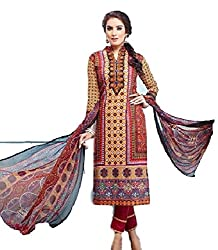 Bhavya Collection Women's Cotton Unstitched Dress Material (BC03_MultiColour_Free Size)