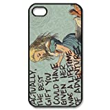 Comic Alice in Wonderland iPhone 4 4s Case Hard iPhone 4 4s Back Cover Case