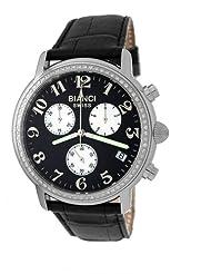 Roberto Bianci Men's 1822DIA_BLK_BLKBND Diamond Accented Chronograph Date Watch