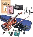 Hallstatt エレキヴァイオリン 教則本&DVD付き13点セット EV-30/NBR ナチュラルブラウン