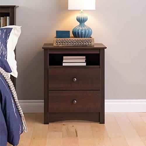 Sonoma Ellsworth Easy-to-Assemble Contemporary Espresso Tall 2-drawer Night Stand (Kids Espresso Nightstand compare prices)