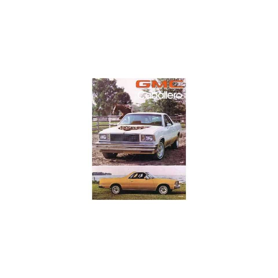 1978 GMC CABALLERO Sales Brochure Literature Book Piece