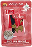 Cats in the Kitchen Cat Food , Mack, Jack and Sam, 3-Ounce Pouches (Pack of 8)
