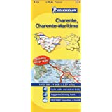 Michelin Map France: Charente, Charente-maritime 324