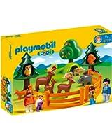 Playmobil - 6772 - Jeu de construction - Parc d'animaux et famille