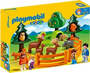 Amazon.com: PLAYMOBIL 1.2.3 Forest Animal Park: Toys & Games