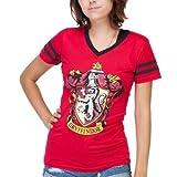 Harry Potter Gryffindor Juniors V-neck T-shirt - Red (Medium) (Color: Red, Tamaño: Medium)