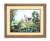 Going To Church Horse Buggy Country Home Decor Wall Picture Oak Framed Art Print