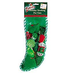 Zanies Holiday Cat Stockings with 12 Cat Toys