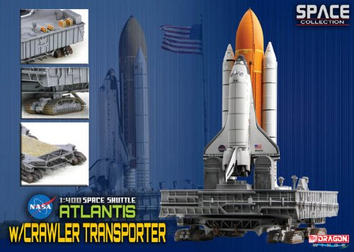 Dragon Models Space Shuttle Atlantis with Crawler Space Transporter Kit, 1:400 Scale (Space Shuttle Model Kit compare prices)