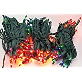 Set of 140 Multi Miniature Christmas Lights with 8-Function Controller