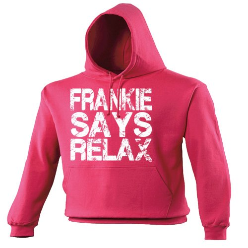 FRANKIE SAYS RELAX DISTRESSED LOOK (M - HOT PINK) NEW