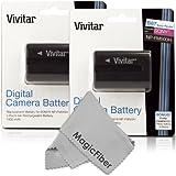 (2 Pack) Vivitar NP-FM500H Ultra High Capacity 1800mAH Li-ion Batteries for SONY Alpha A58, A57, A65, A77, A99, A900, A700, A580, A560, A550, A850 (Sony NP-FM500H Replacement)
