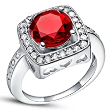 buy Master Jiwelry Fashion Square Ring Red Created G Tone Jewelry Micro Pave Pink Engagement Ring Love J475