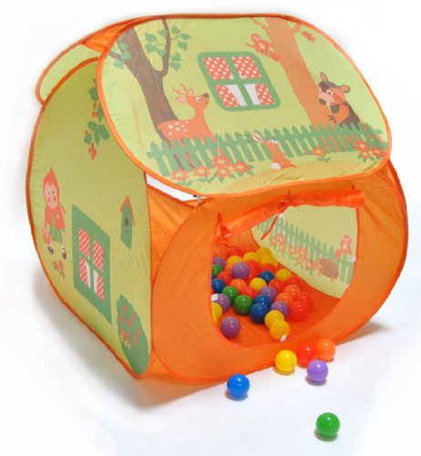 "Forest Friends Twist Play Tent W/ 100 ""Phthalate Free"" Balls: Free Mystery Gift"