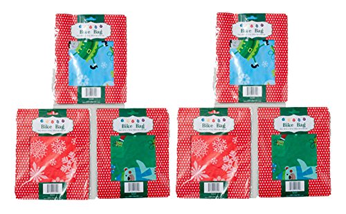 Set of 6 Christmas Gift Bags Jumbo/Giant Bike Size 60