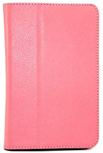 Shenit Premium Pu Leather Case Cover Folio for Samsung Galaxy Tab 2 7.0 P3110/p3100 - Pink + Free Retractable Stylus