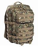 Mil-Tec Military Army Patrol Molle Assault Pack Tactical Combat Rucksack Backpack Bag 50L Arid Woodland