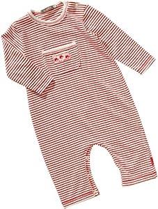 Lana Naturalwear - Mono a rayas de manga larga para bebé