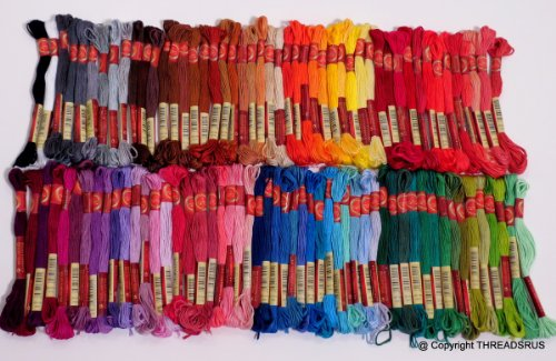 Best Price! 100 ThreadNanny DMC Color Embroidery Cross Stitch Threads Floss/skeins