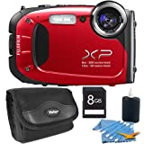 Fujifilm FinePix XP60 16 MP Waterproof Shockproof Freezeproof Digital Camera Red Kit