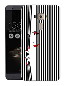 """Classy Girl WindowPrinted Designer Mobile Back Cover For """"Asus Zenfone 3 Deluxe"""" (3D, Matte, Premium Quality Snap On Case)"""