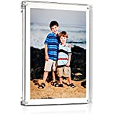 """Acrylic Block Picture Frame 5"""" x 7"""" (Actual Size 6"""" x 8"""" for Floating Effect) - Premium Frame and Premium Gift Box"""