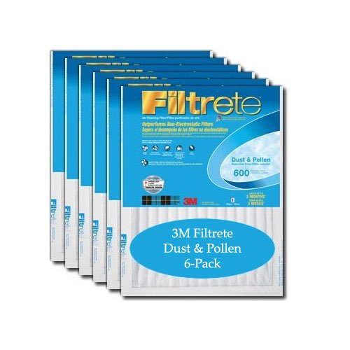 3M Filtrete Dust & Pollen Air Filters 12x20x1 (6-Pack)