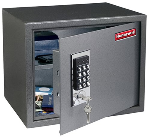 Honeywell 2072 1.06-Cubic-Foot Anti-Theft Safe with Shelf and Digital Keypad