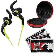buy Jvc Ha-Etx30 Inner Ear Waterproof Headphones (Black) With Case & 3 Microfiber Cloths