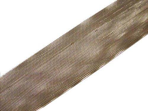 4.5 Yd Metallic Light Gold Border Ribbon Trim Sewing Dress Embellishment Border