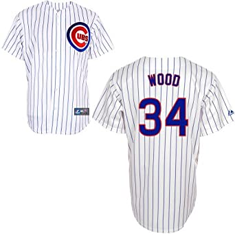 Kerry Wood Chicago Cubs Home Replica Jersey by Majestic by Majestic