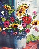 Dimensions Needlecrafts Crewel Bucket Of Flowers