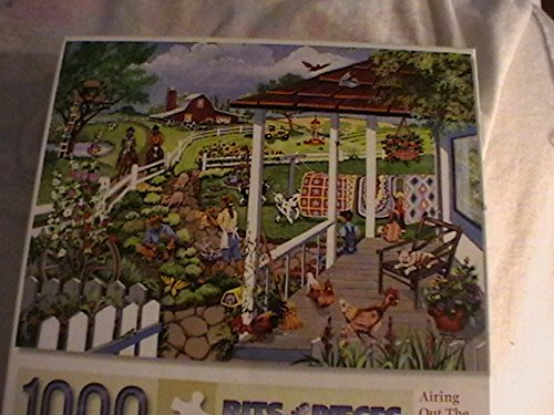 Bits and Pieces Airing Out the Quilts Sandy Rusinko 1000 Piece Jigsaw Puzzle