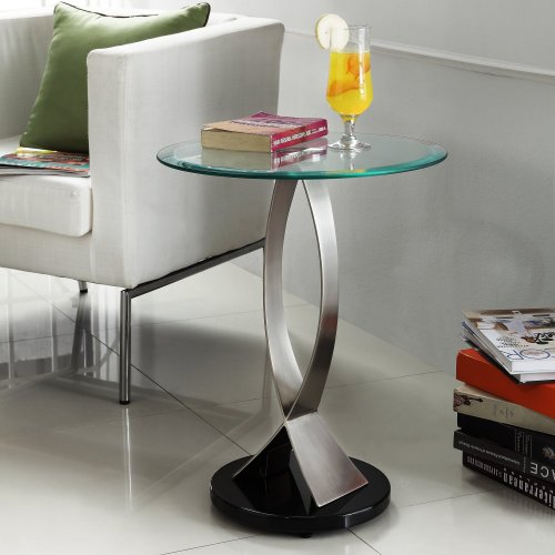 Homelegance Round Shape Tempered Glass Top End Table
