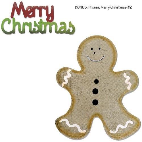 Sizzix Bigz With Bonus Sizzlits Die - Gingerbread Man & Merry Christmas By Basicgrey